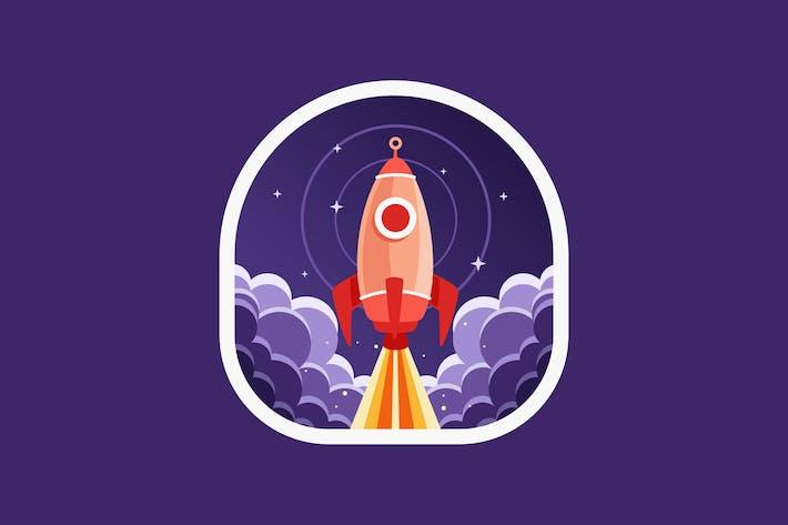 Space Rocket hebt ab