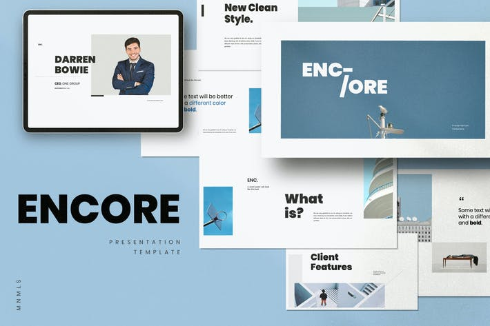 Thumbnail for ENCORE - Google Slide Minimal Template Business