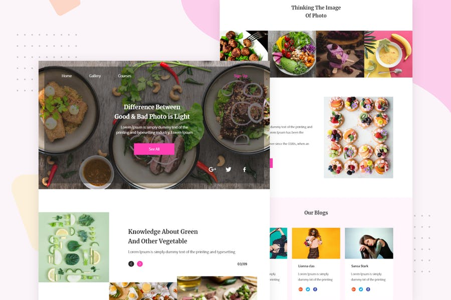Food Banners - Email Newsletter