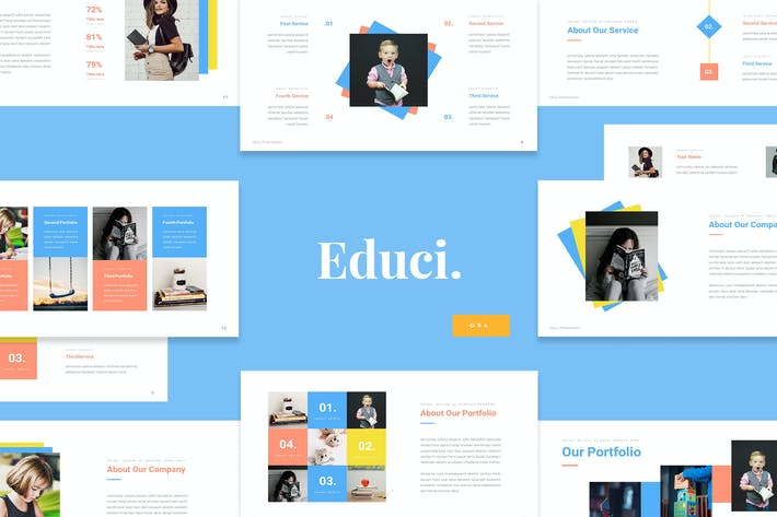 Thumbnail for Educi - Children Education Google Slides Template