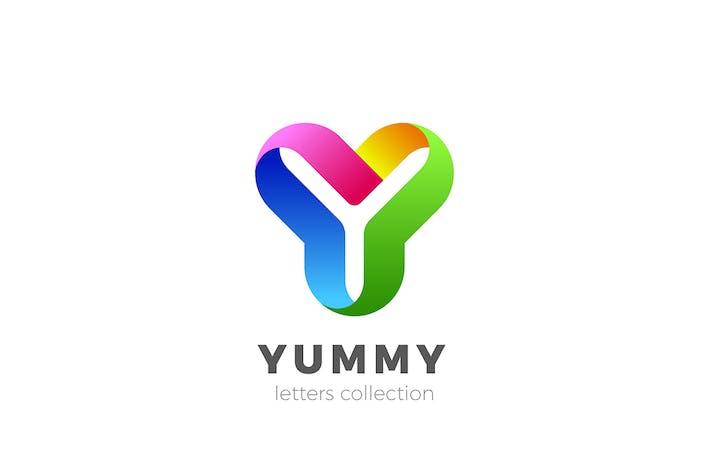 Thumbnail for Letter Y Logo design 3D Ribbon style