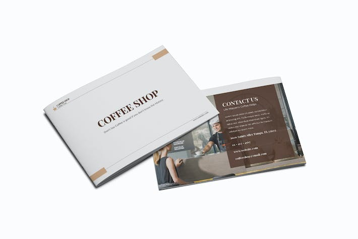 Thumbnail for Coffee Shop A5 Brochure Template