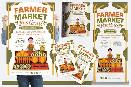 Farmer Market Festival #01 Print Templates Pack