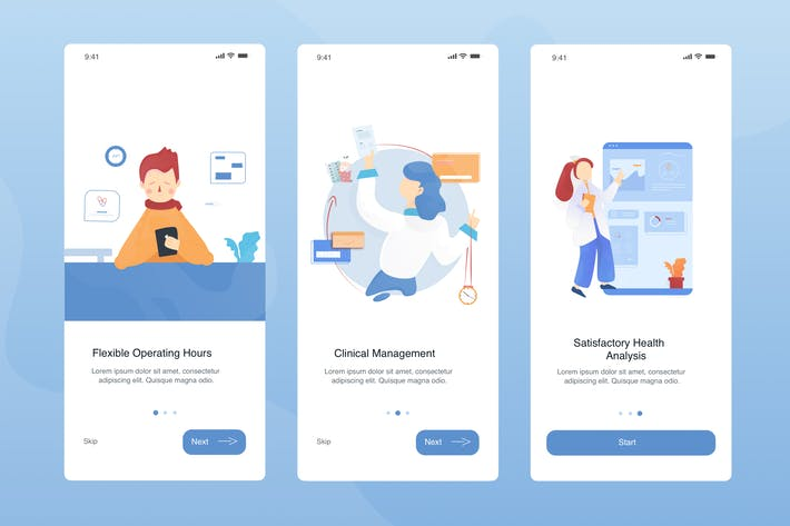 Thumbnail for Health App Onboarding Illustration