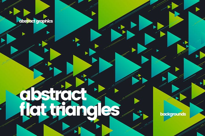 Thumbnail for Abstract Flat Triangles Backgrounds