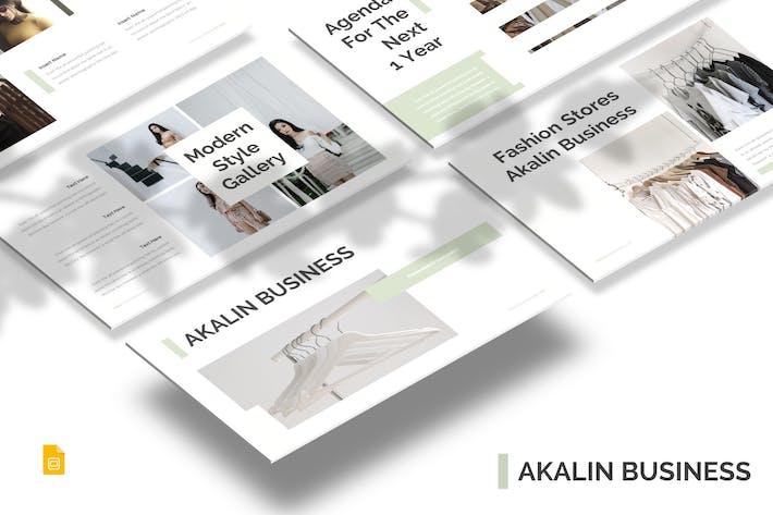 Thumbnail for Akalin Business - Google Slides Template