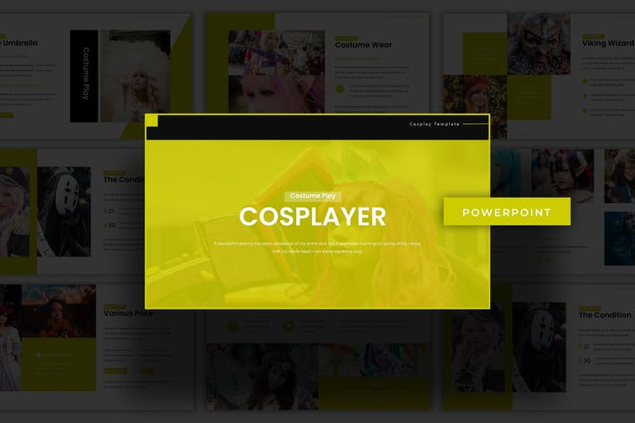 Thumbnail for Cosplayer - Powerpoint Template