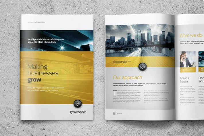 Thumbnail for GrowBank - Business Brochure 16 Pages A4 + Letter