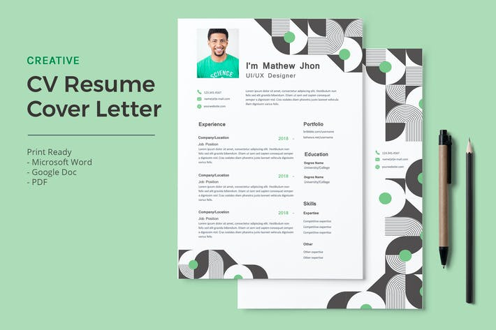 Cover Image For Mathew- CV Resume Template