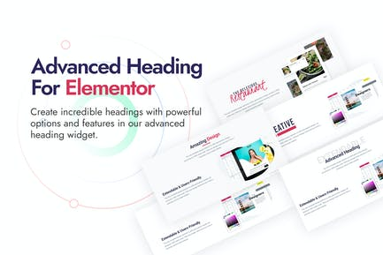 Advanced Heading and Animated Text for Elementor