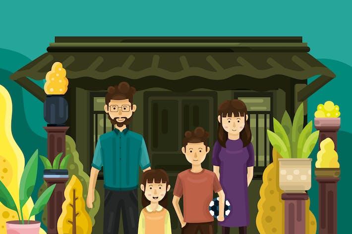 Thumbnail for Happy Family - Vector Illustration
