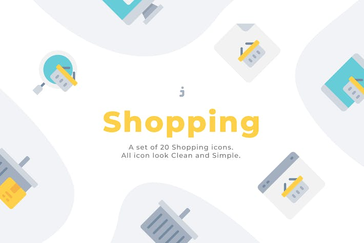 Thumbnail for 20 Shopping icons - Flat