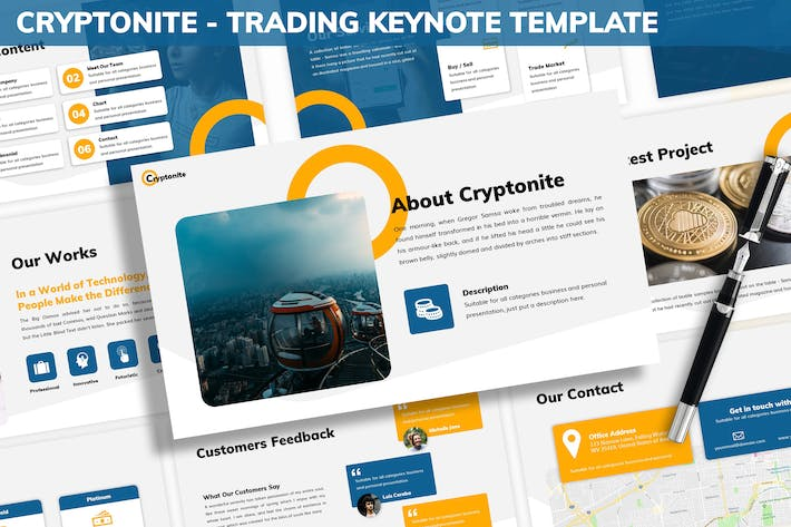 Cryptonite - Trading Keynote Template