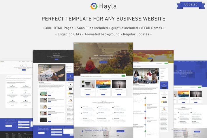 Cover Image For Hayla - Multipurpose Business Website Template