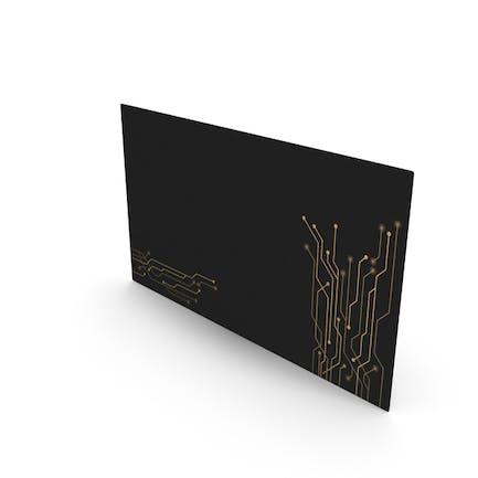 Tecnología de maqueta de tarjetas de visita de lujo