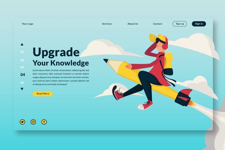 Upgrade Your Knowledge - Landing Page GR