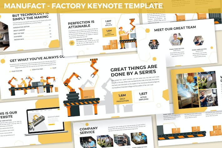 Thumbnail for Manufact - Factory Keynote Template