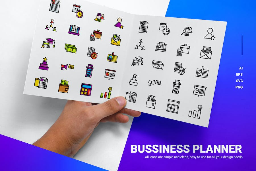 Business-Planer - Icons