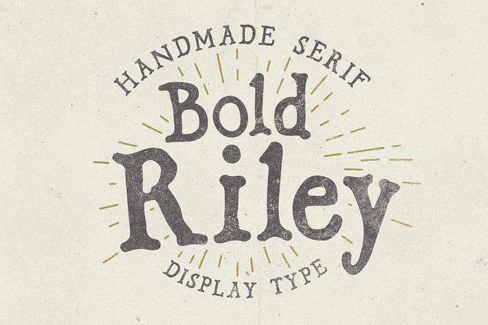 Thumbnail for Bold Riley font