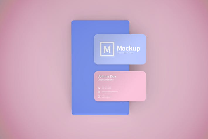 Thumbnail for Business Card Mockup Rounded Corner
