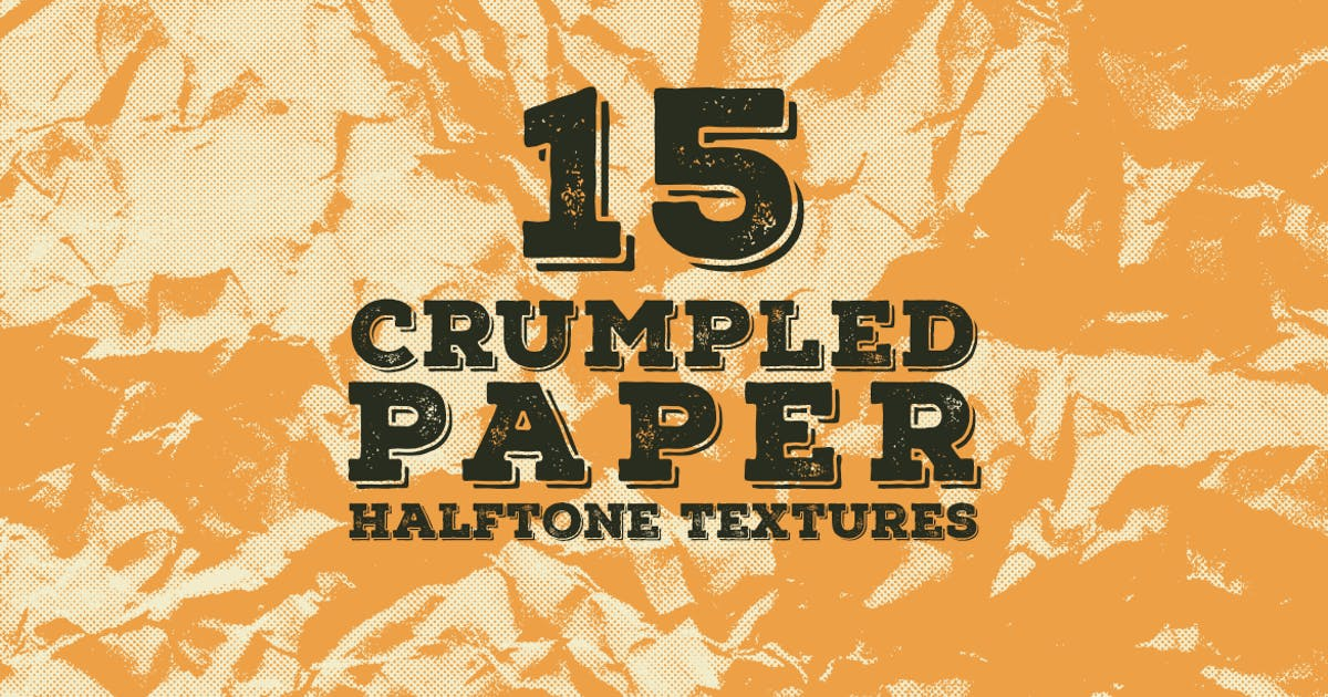 Download 15 Crumpled Paper Halftone Textures by itefan