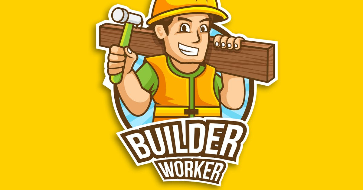 Download Professional Construction Worker Logo Vector by naulicrea