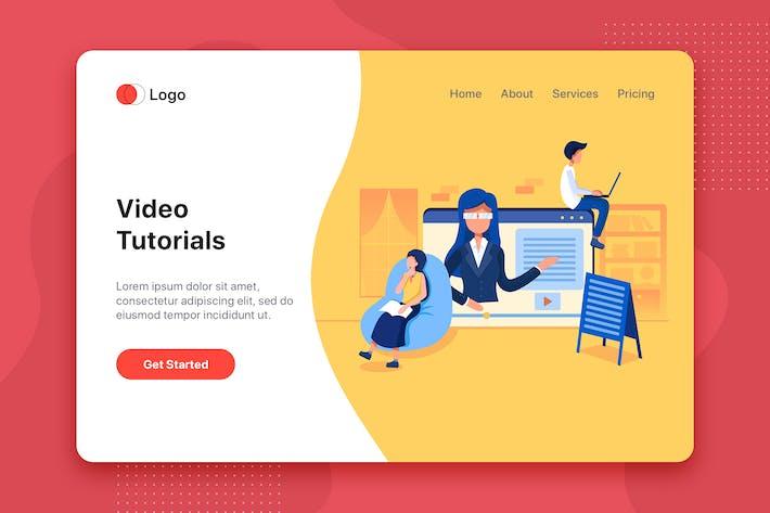 Thumbnail for Video tutorials Illustration - Website Header
