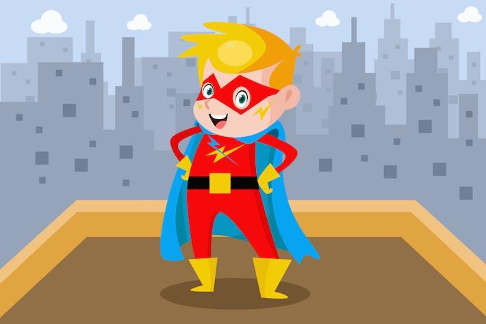 Thumbnail for Little Hero - Vector Kids Illustration