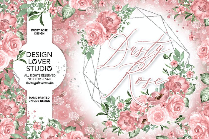 Thumbnail for Dusty Rose geometric design