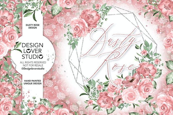 Thumbnail for Beige-Rose geometrisches Design