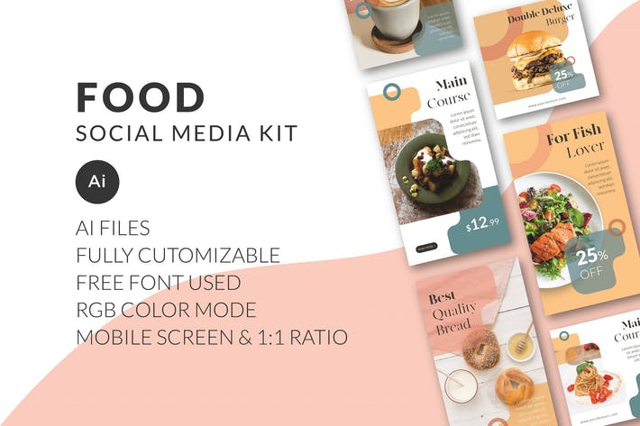 Thumbnail for Food Social Media Kit