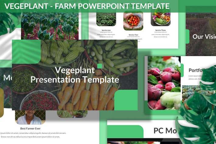 Cover Image For Vegeplant - Farm Powerpoint Template