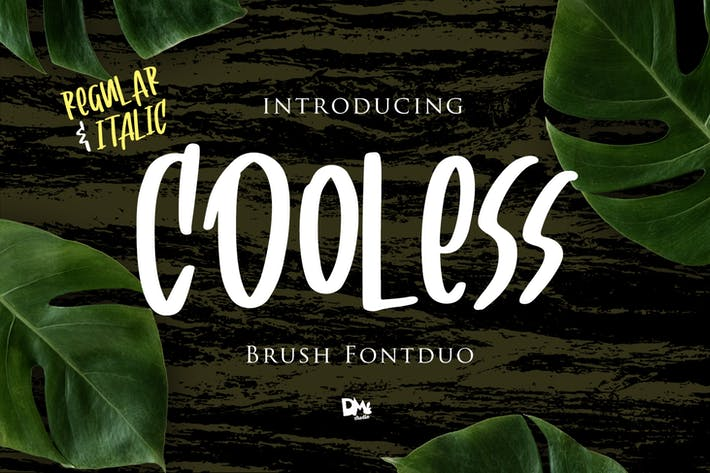 Thumbnail for Cooless - Brush Font