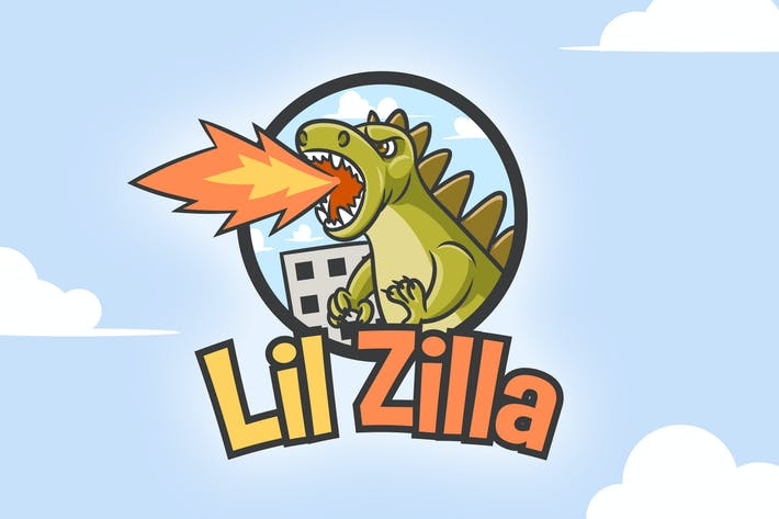 Thumbnail for Cartoon Zilla Monster Mascot Logo