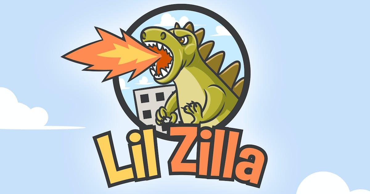 Download Cartoon Zilla Monster Mascot Logo by Suhandi