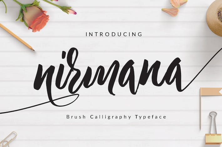 Thumbnail for Nirmana Brush Font Wedding