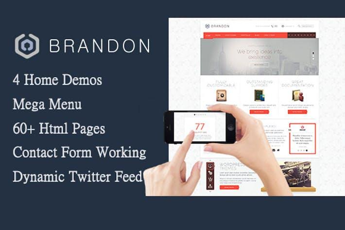 Thumbnail for Brandon - Responsive Multi-Purpose HTML Template