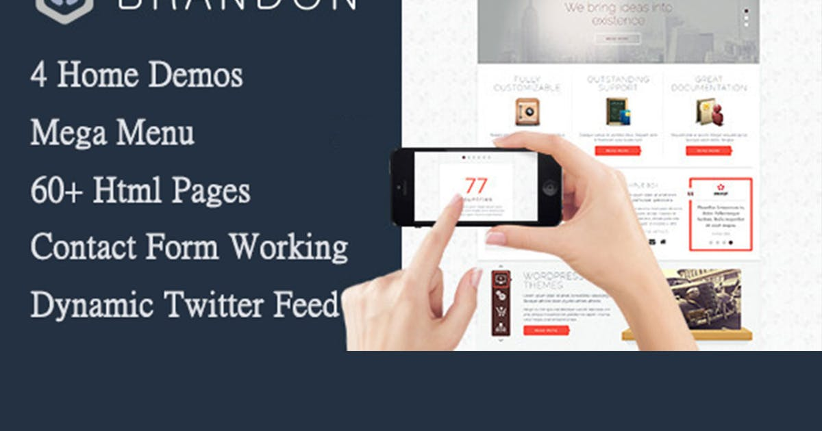 Download Brandon - Responsive Multi-Purpose HTML Template by max-themes