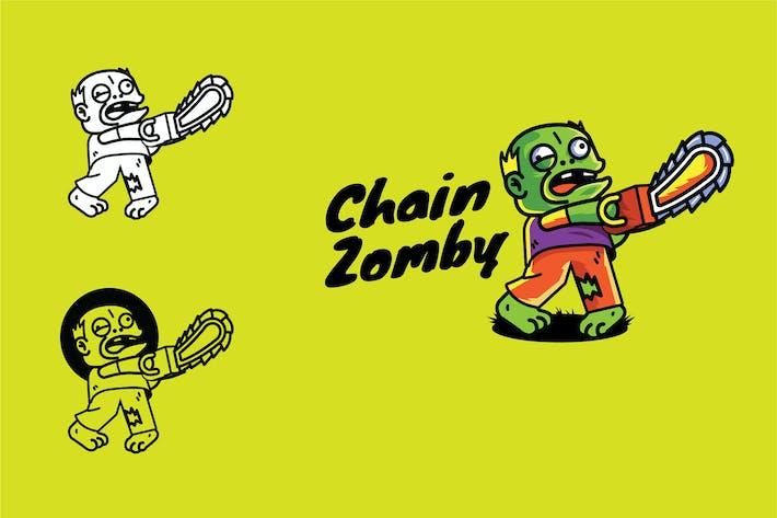 Chainsaw Zombie - Mascot & Esport Logo