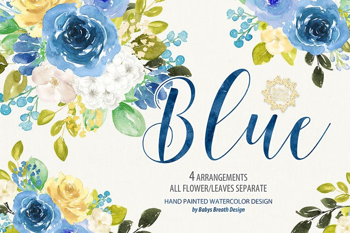 Thumbnail for Blue floral design