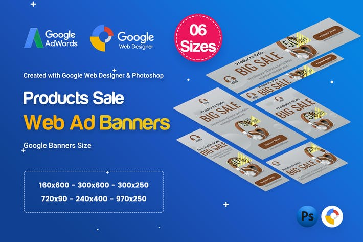 Thumbnail for Product Sale Banners Ad D30 - Google Web Design