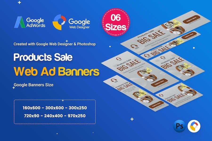Product Sale Banners Ad D30 - Google Web Design