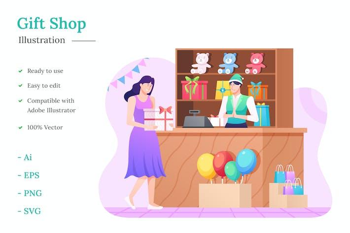 Thumbnail for Gift Shop Illustration