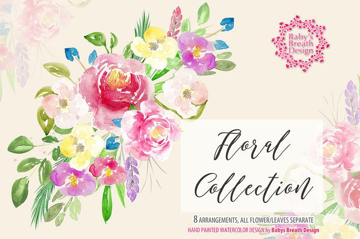 Cover Image For Watercolor Floral design