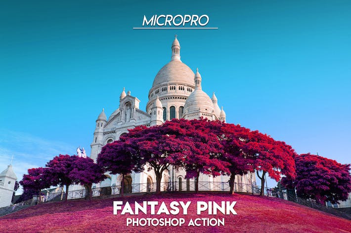 Thumbnail for MicroPro Fantasy Pink Photoshop Acción Color blanco
