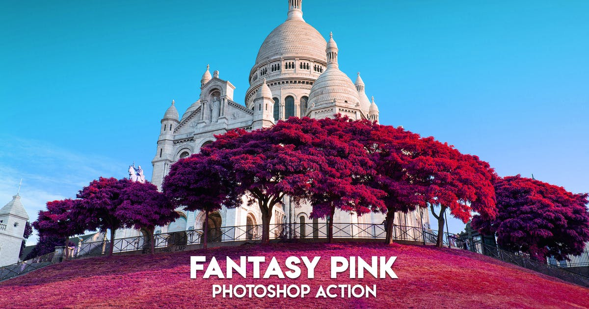 MicroPro Fantasy Pink Photoshop Action by ClauGabriel