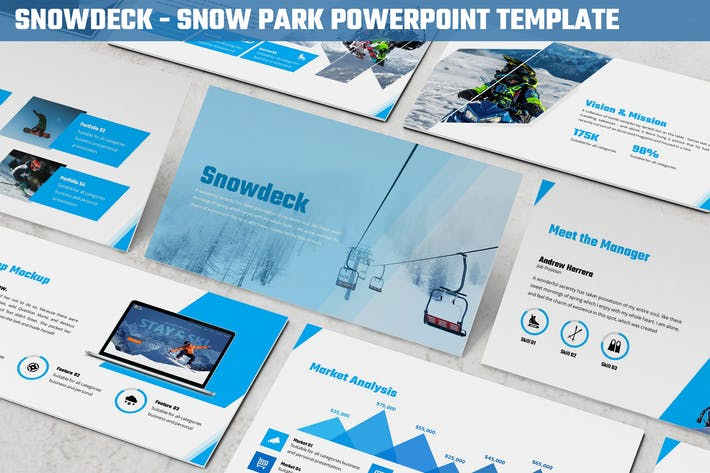 Thumbnail for Snowdeck - Snow Park Powerpoint Template