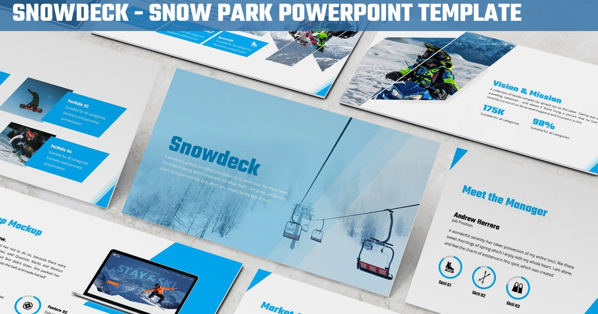 Download Snowdeck - Snow Park Powerpoint Template by SlideFactory