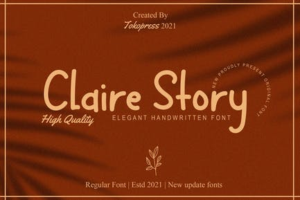 Claire Story - Girly Handwriting font