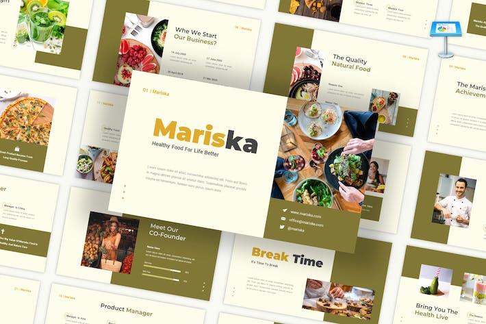 Thumbnail for Mariska - Gesunde Ernährung Keynote Vorlage